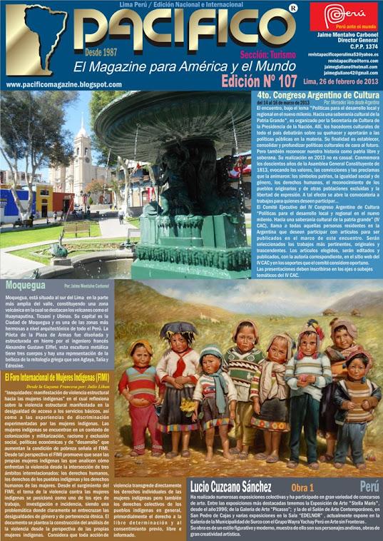 Revista Pacífico Nº 107 Turismo