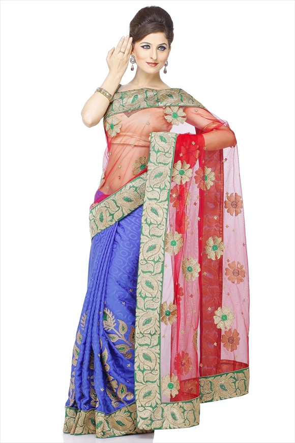 latest net sarees