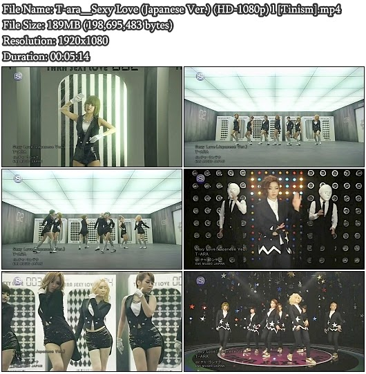 Download PV T-ara - Sexy Love (Japanese Version) (Full HD 1080p)