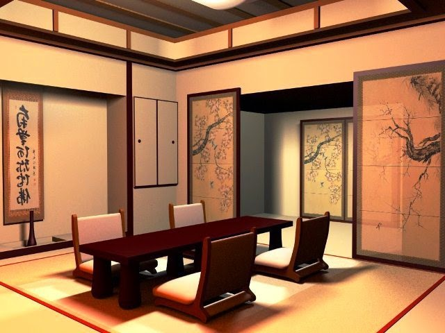 japanese modern wall painting ideas