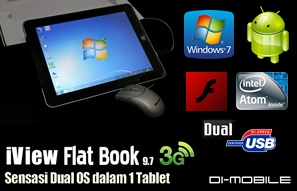 Tablet PC Dual OS Windows 7 + Android