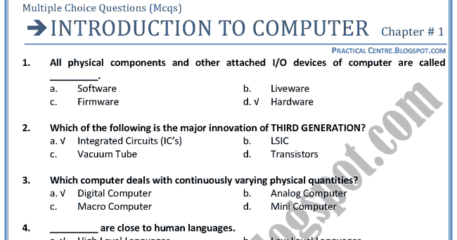 introduction to computer essay questions Sample computer science essays fair use policy  this chapter covers the introduction to packet classification  we're here to answer any questions you have.