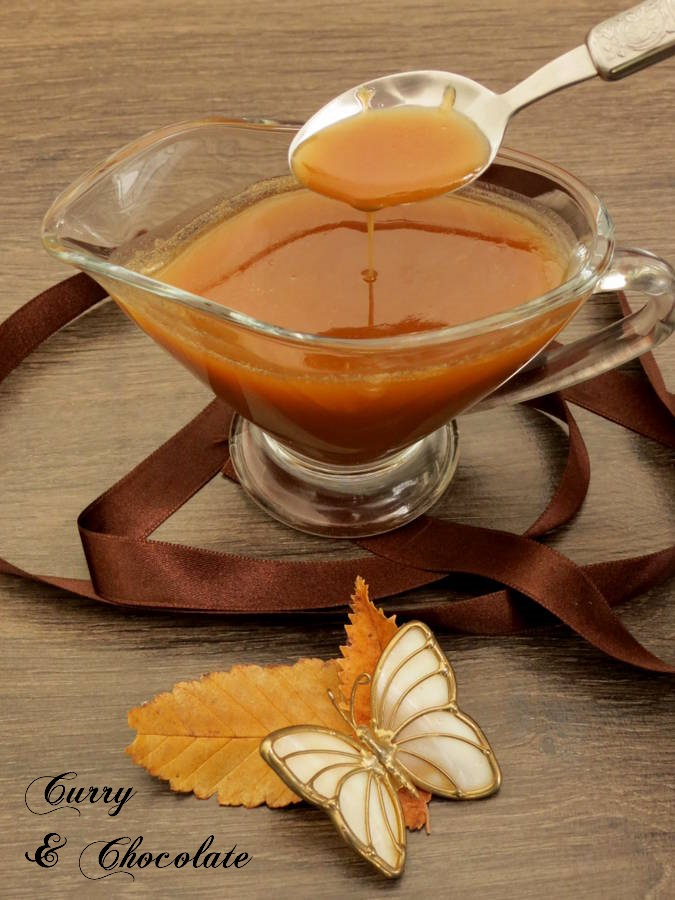 Salsa toffee o de caramelo con mantequilla  - Butter toffee sauce