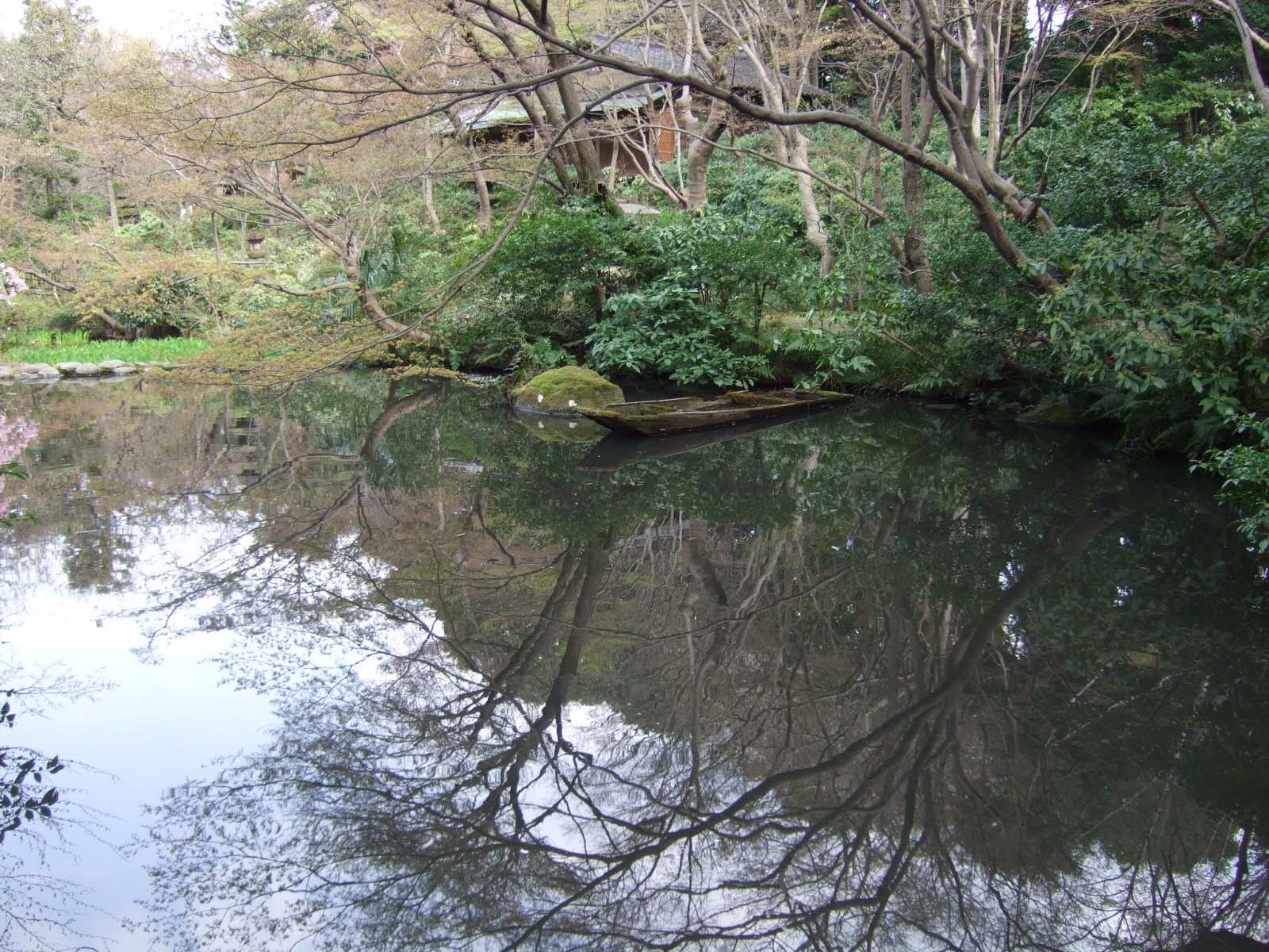 庭園,池,樹木,船,根津美術館,東京〈著作権フリー無料画像〉Free Stock Photos
