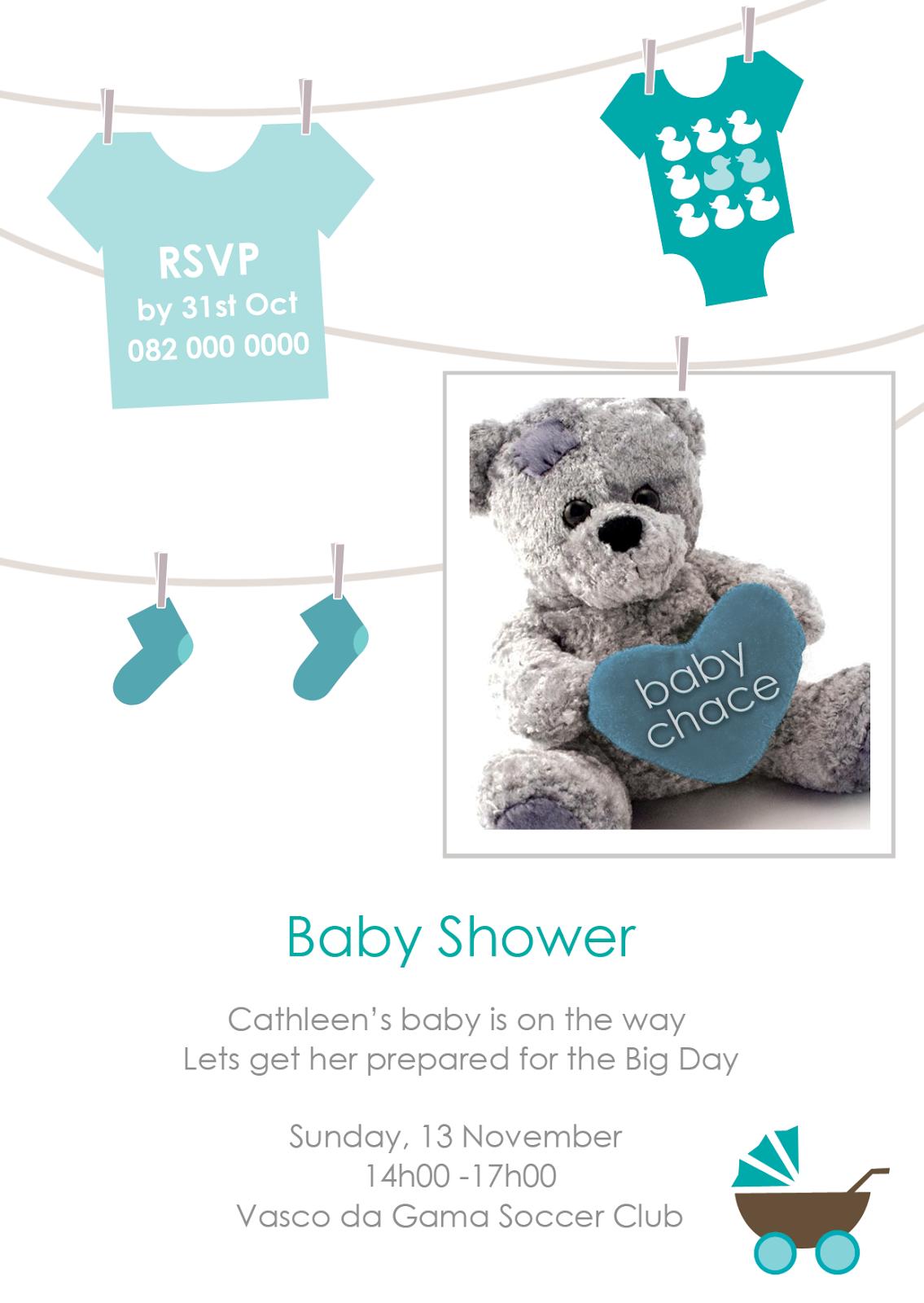 paulina graphic design baby shower invitations