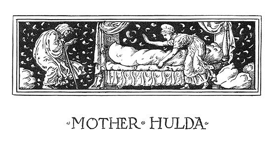 """The headpiece of Mother Hulda."" by Walter Crane  courtesy of University of Rochester Library."