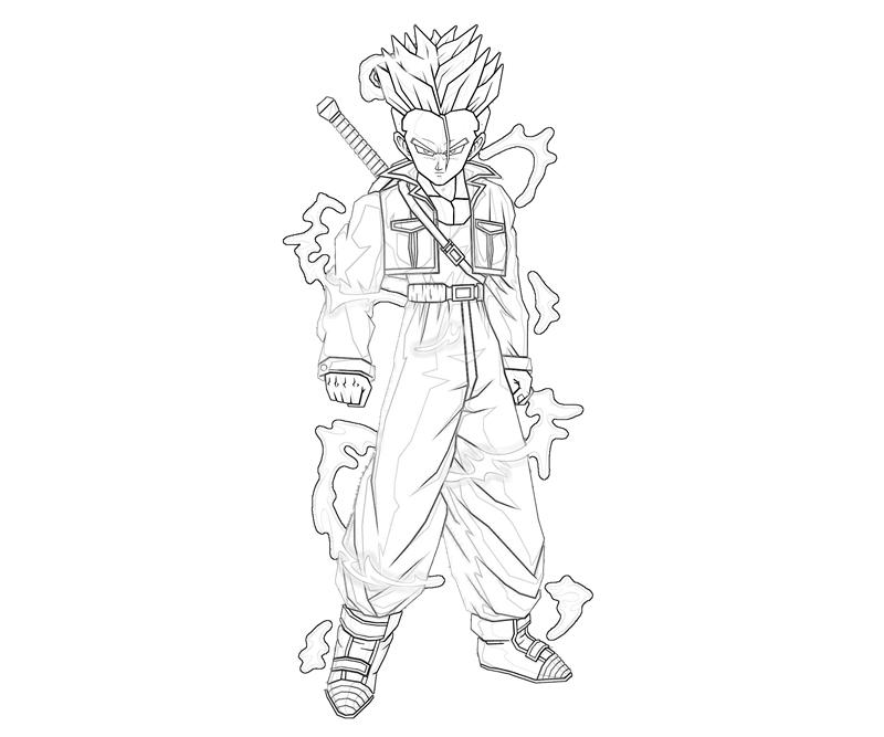 Coloring Pages Dragonball Z Trunks