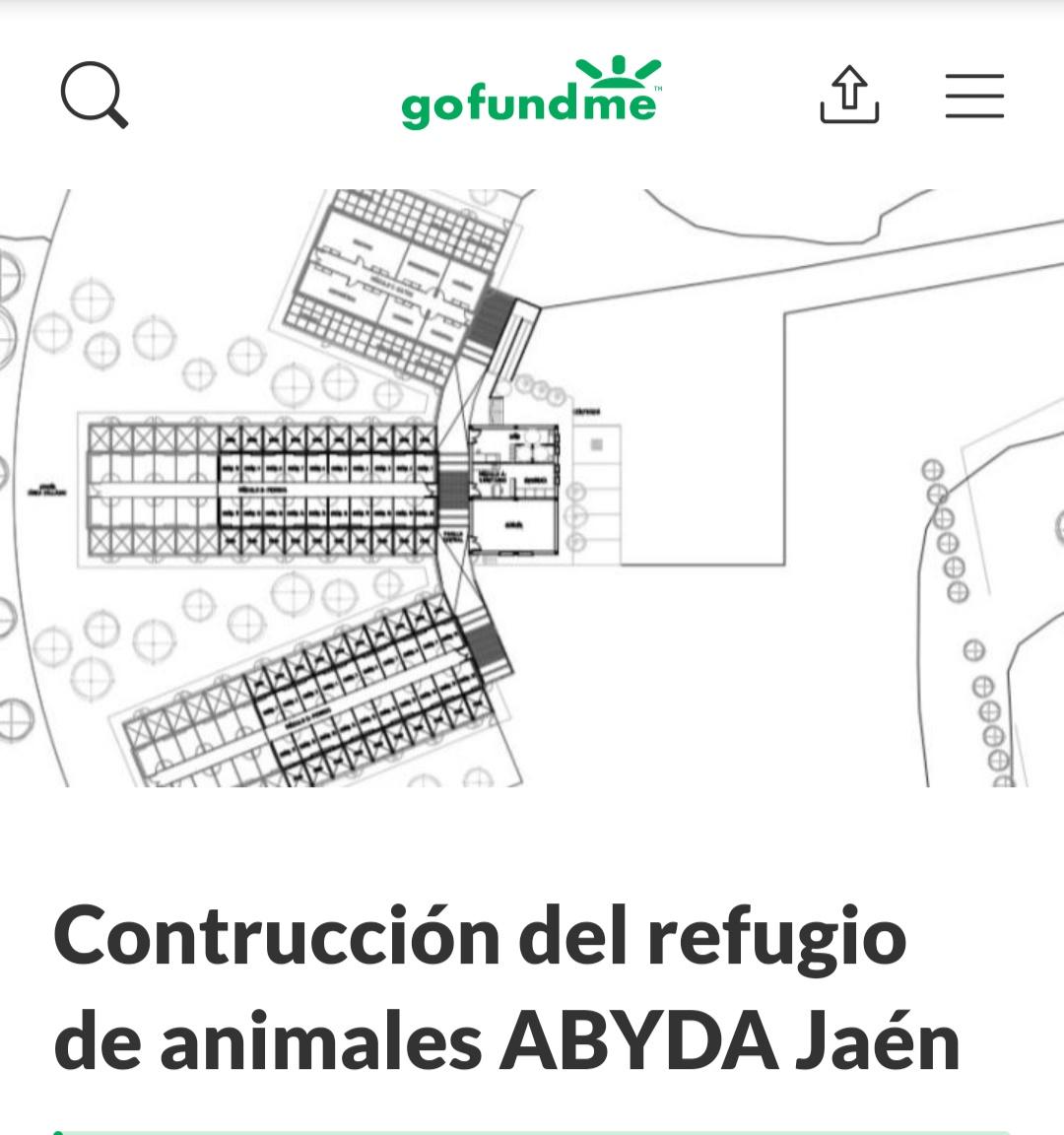 Plataforma GOFUNDME para colaborar en la construcción del nuevo refugio.