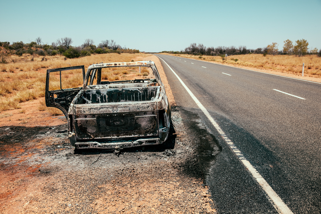 Burnt Wreck - Copyright © Marcin Michalak Photography.
