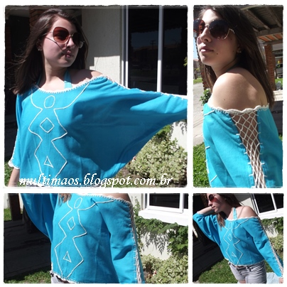 blusa bordada,moda praia, blusa croche,peças artesanais, peças exclusivas