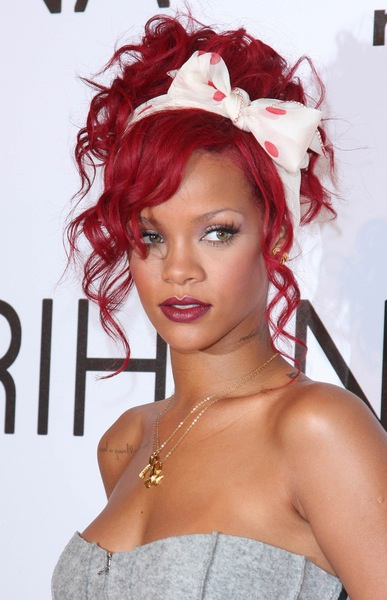 famous celebrity spotlight rihannas different red hair