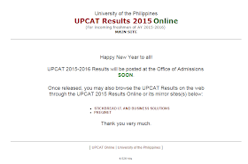 UPCAT results 2015