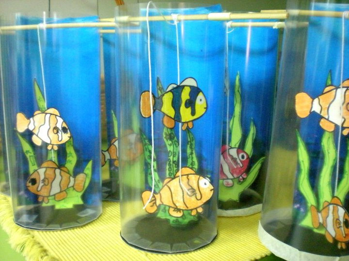 Kiddos crafts diy aquarium for Fish tanks for kids