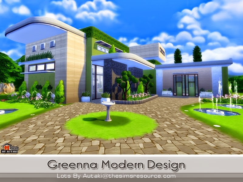Casa moderna greenna the sims 4 pirralho do game for Casas modernas sims 4 paso a paso