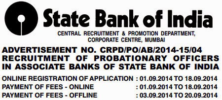 Probationary Officers Recruitment: Associate Banks of State Bank of India