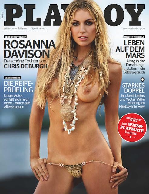 Confira as fotos da Miss Mundo, Rosanna Davison, capa da Playboy Alemanha de outubro de 2012!  Schauen Sie sich die Fotos von Miss World, Rosanna Davison, die Abdeckung der Playboy Germany Oktober 2012!