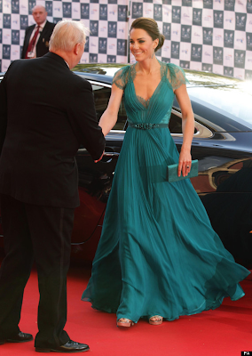 Kate shaking the hand of fellow ambassador in London 2012's Olympic and Paralympic Gala Night