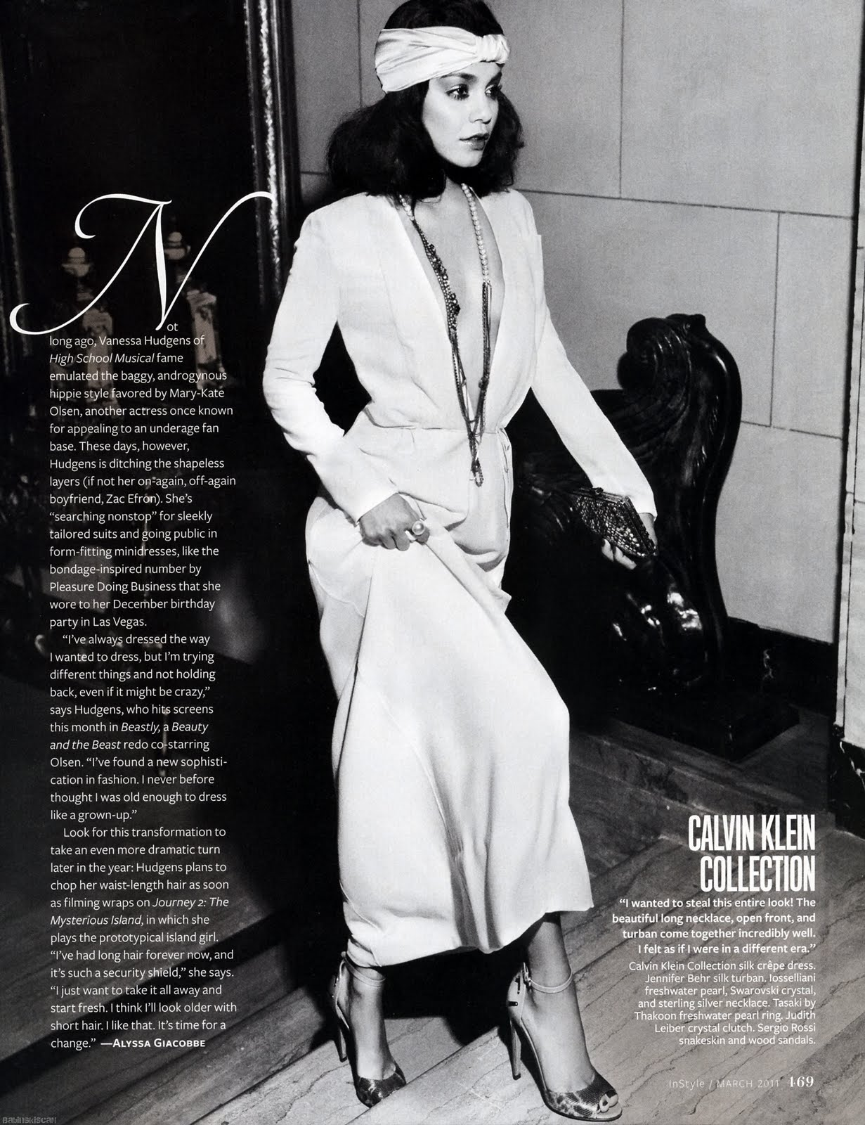Fashion Insomnia Vanessa Hudgens Channels Bianca Jagger In Instyle
