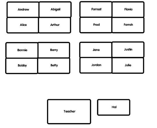 Seating Plan for a Classroom
