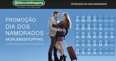 Promoção dia dos namorados Shopping Morumbi 2014