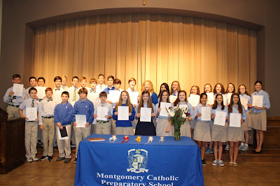Montgomery Catholic Inducts 35 New Members into National Junior Honor Society 1