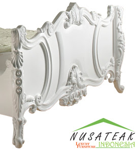 Leangan Carved Bed Footboard - Nusa Teak
