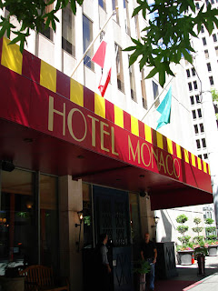 Entrance to Seattle's Hotel Monaco