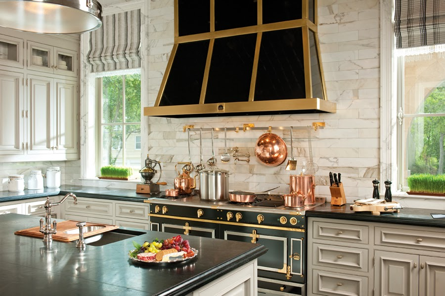 Tiffany leigh interior design kitchens black white and gold