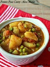 Potato Peas Curry, Aloo Matar