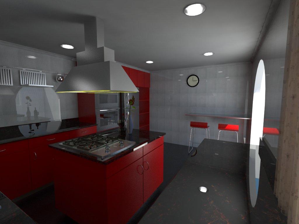 Animaci n dise o y render 3d cocina 1 dise o - Diseno cocina 3d ...