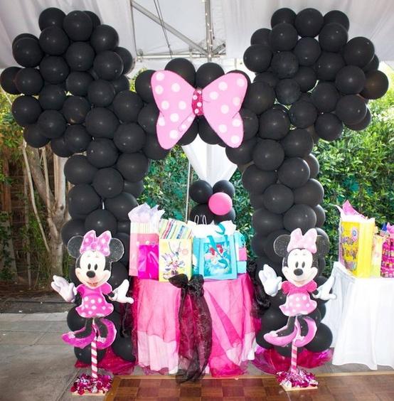 Decoración De Fiestas Infantiles de Minnie Mouse | Arcos con ...