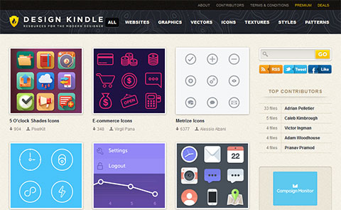 Free PSD files for Web desigers on Design Kindle