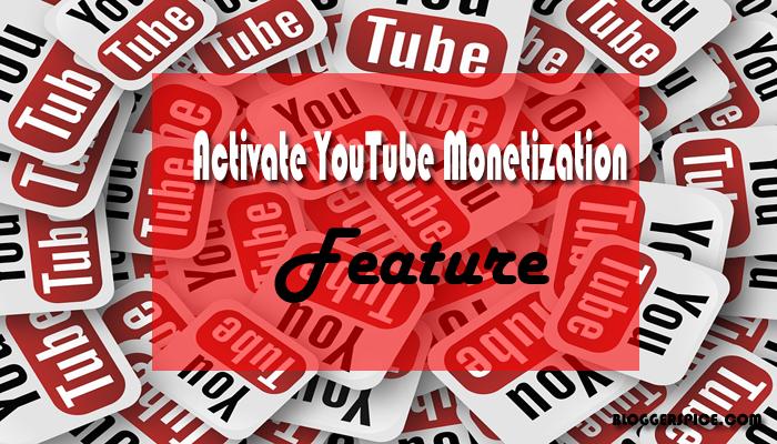 activate youtube monetization