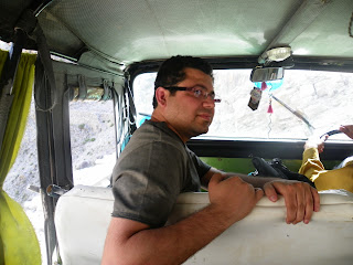 Ali Hameed on the way to Tatu village