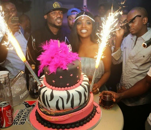 annie idibia 30th birthday party