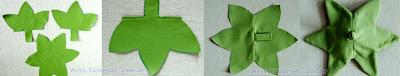 Almofada de feltro folha morango