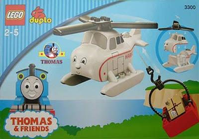 7 part Thomas the tank engine railway DUPLO Thomas LEGO train set toys Harold the Helicopter 3300