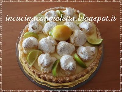 torta con bignè, crema di limone polenghi e pasta reale