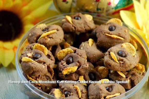 Resep dan Cara Membuat Kue Kering Coklat Kacang  Bumbu Spekuk