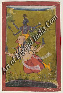 Idol of Vishnu riding Garuda from Thailand indicating the spread of the Vaishnava