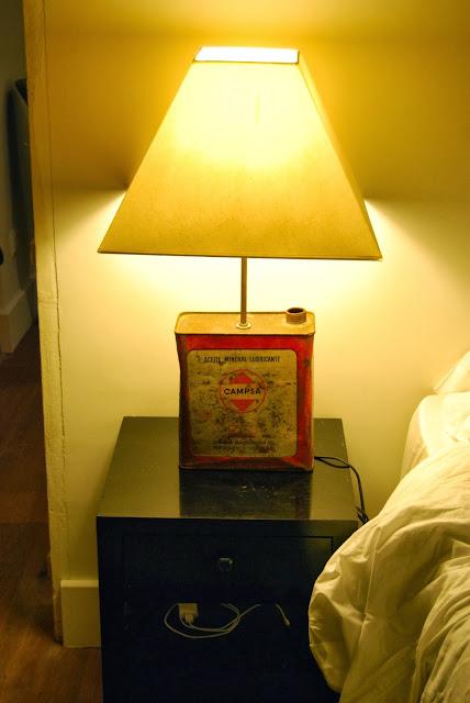 lampara diy hecha con bidón de aceite