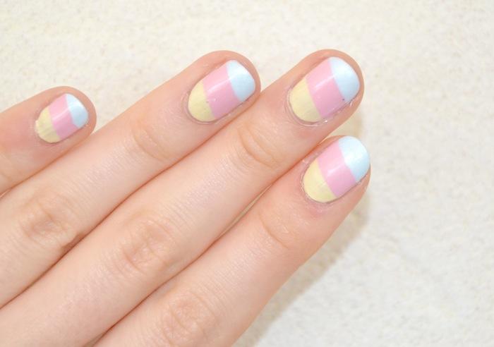 Marine magpie nail art facile pour ongles la guimauve avec agn s b - Temps de sechage peinture auto avant vernis ...