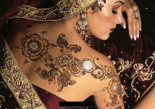 Indian girls fanz henna body art 2011 for Henna body tattoo
