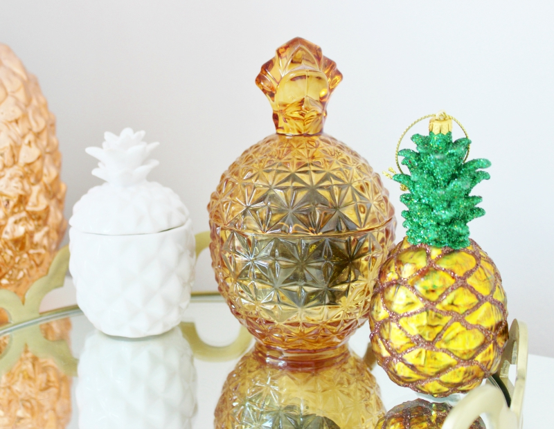 PIneapple shaped homewares candles and jars