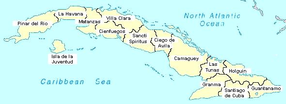 mapa de santiago de cuba