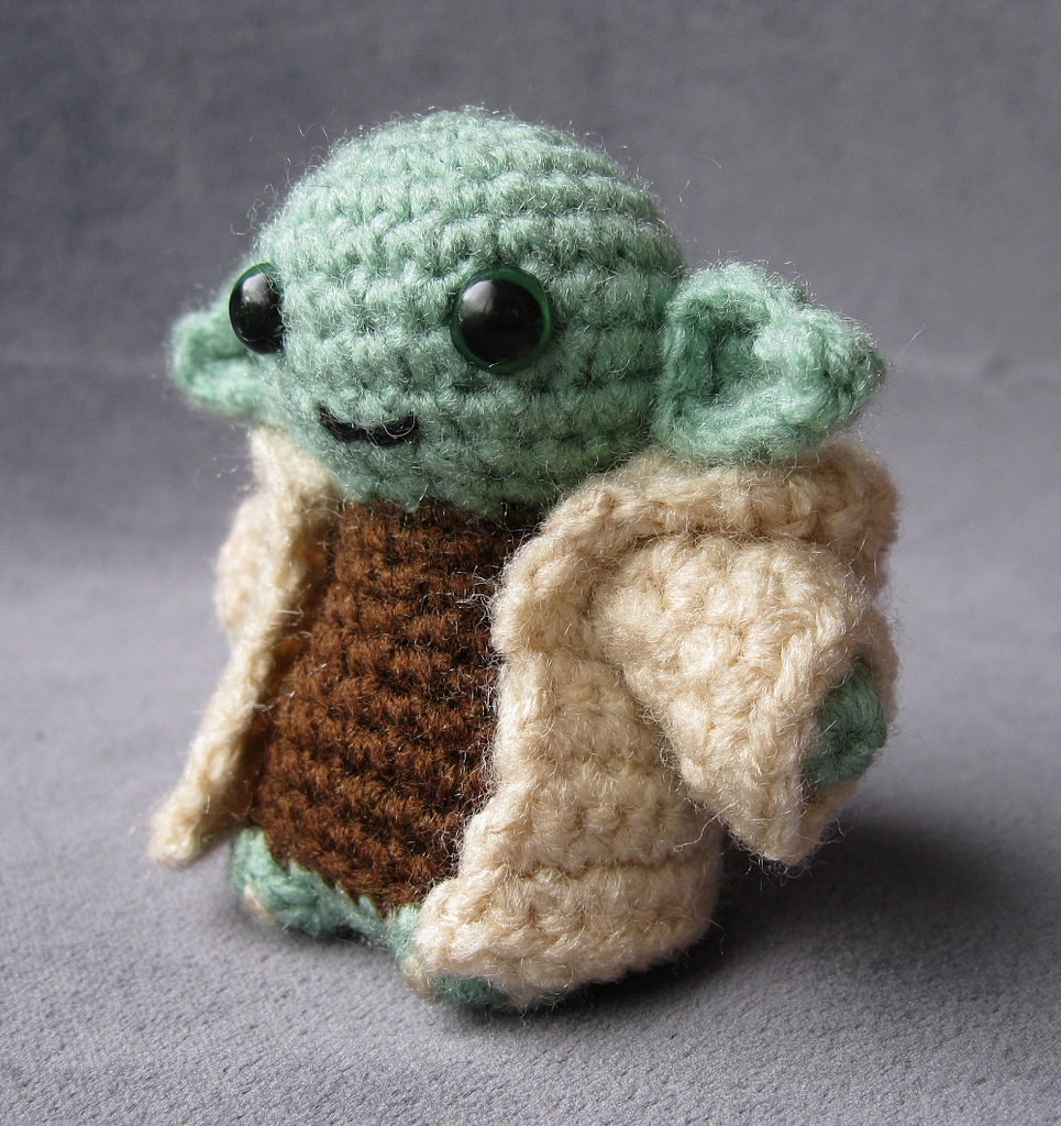 Crochet Patterns Star Wars : Yoda with robe by Lucy Ravenscar aka lucyravenscar / Angry Angel ...
