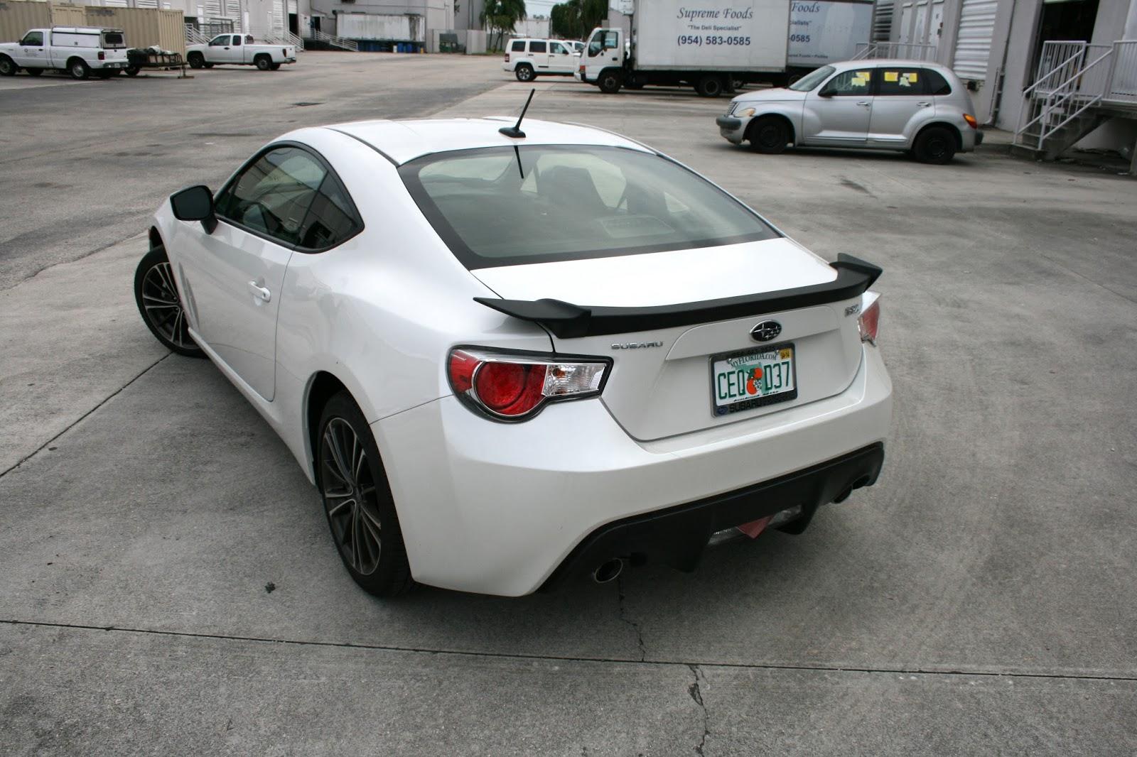 Custom Subaru Brz Carbon Fiber Vinyl Wrapped Mirrors Hood Miami