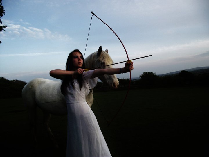 Archery toronto female archer with horse