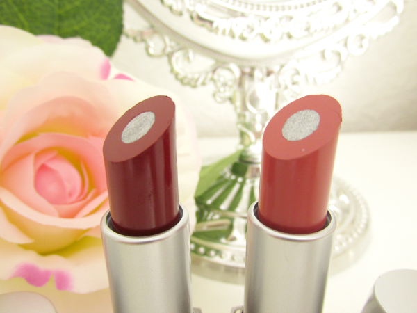 p2 Here I am - Beauty Amazon Lipsticks 010 dynamic rosewood und 030 strong russet silberner Glanzkern