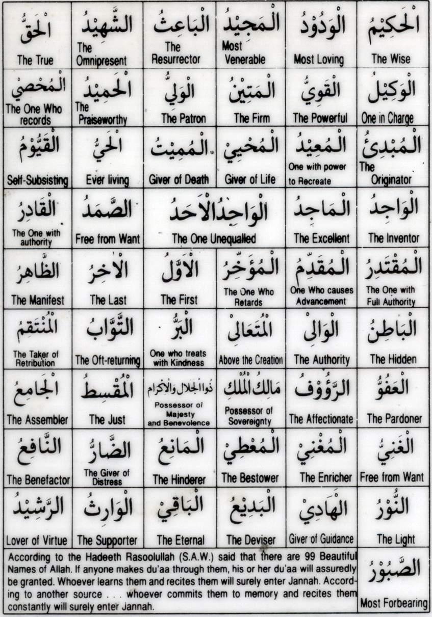 99 names of allah wallpaper hd in english